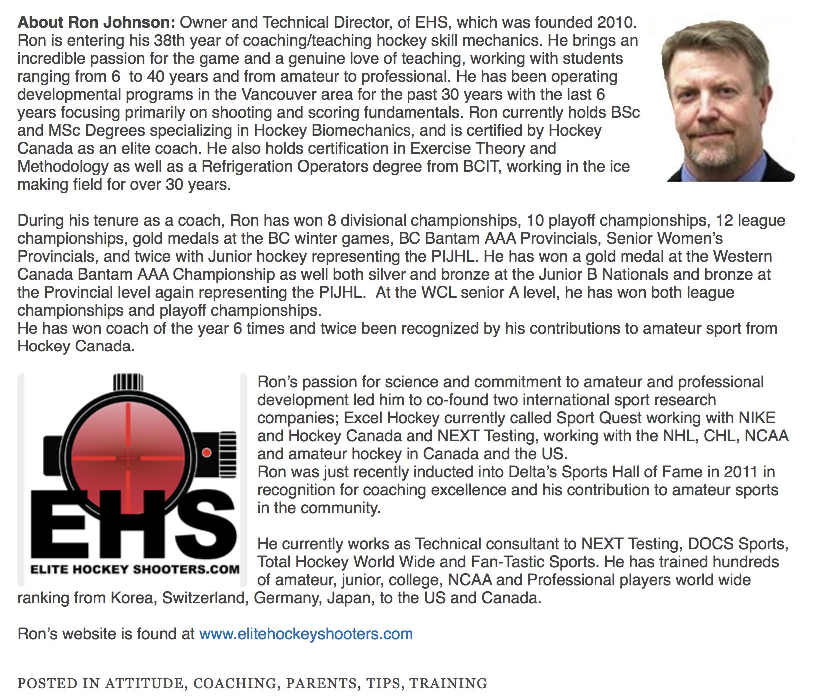 Ron Johnson's Newsletter